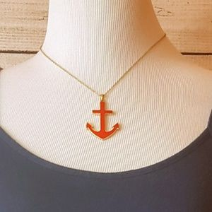 Jewelry - Fun Nautical Red Anchor Necklace
